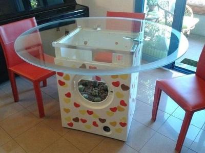 Столик из корпуса стиральной машины