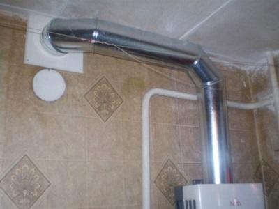 Вытяжная труба для газовой колонки