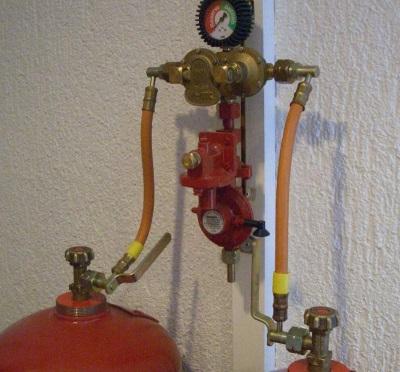 Подключение газовой колонки к баллону с сжиженным газом