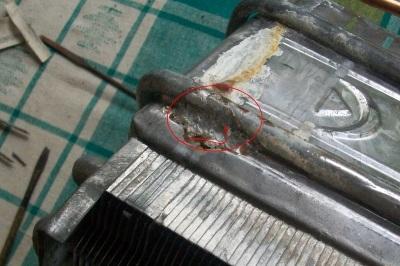 Пайка теплообменника газовой колонки паяльником