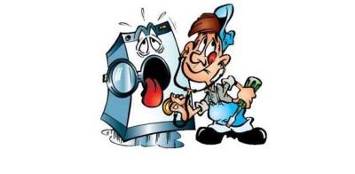 Комикс - стиральная машинка и ремонтник