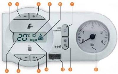 Регулировочная панель газовой колонки