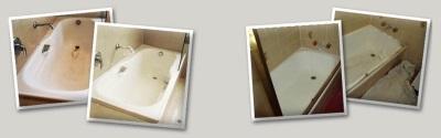 Акриловые ванны до ремонта и после