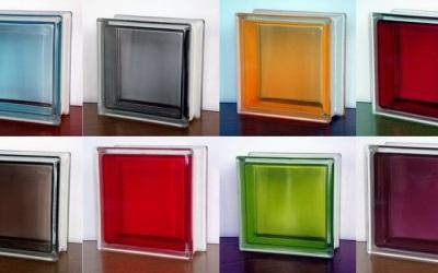 разноцвеиные стеклянные блоки