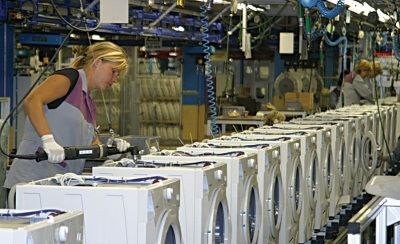 Сборка стиральных машин на Европейском заводе