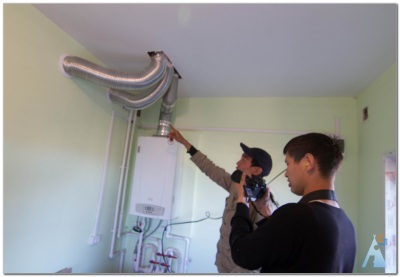 Монтаж воздуховода для газовой колонки