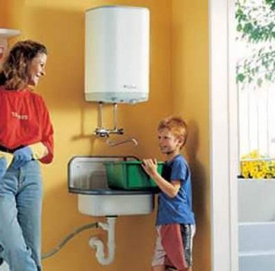 Накопительный водонагреватель в дачном доме