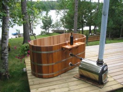 Самодельный водонагреватель на дровах