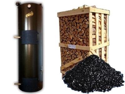 Дровяной водонагреватель и топливо для него