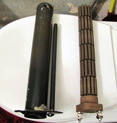 Сухой ТЭН электрического водонагревателя