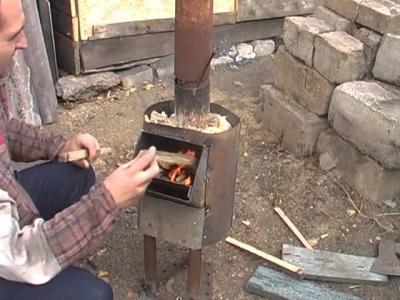 Самодельный дровяной водонагреватель