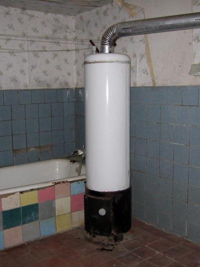 Установленный дровяной водонагреватель
