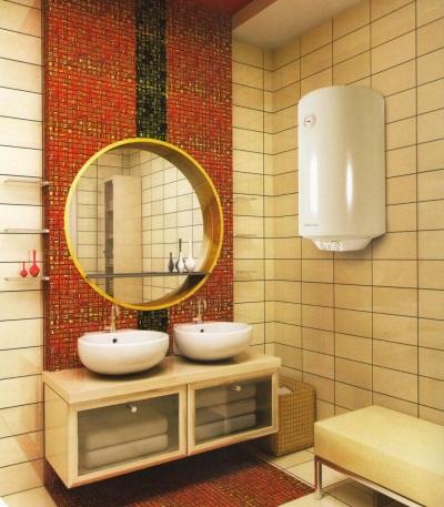 Электрический бойлер в ванной комнате