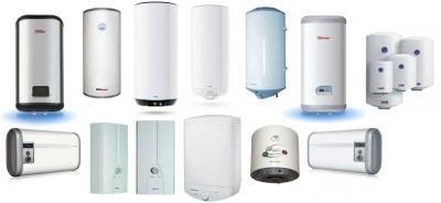Разные виды электрических водонагревателей