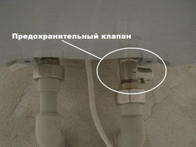 Отрегулированный предохранительный клапан для бойлера