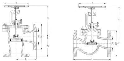 Схема невозвратно-запорного предохранительного клапана для бойлера
