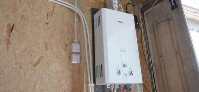 Проточный водонагреватель в дачном доме