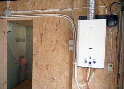 Проточный водонагреватель в загородном доме