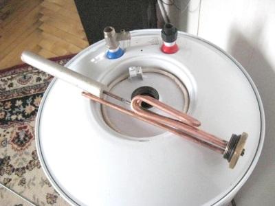 Новый магниевый анод и чистый ТЭН водонагревателя