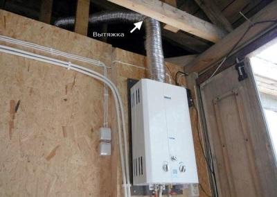 Газовый водонагреватель на даче