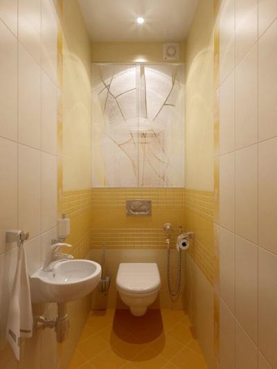 Туалет дизайн 2 кв м