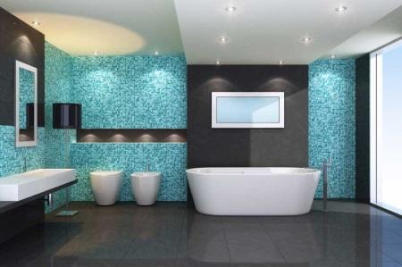 Сине-черная ванна