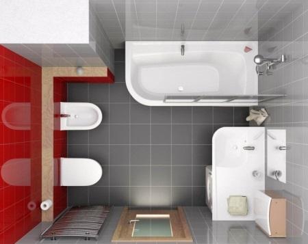 План ванной комнаты