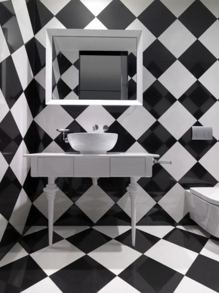 Черная плитка в шахматном порядке