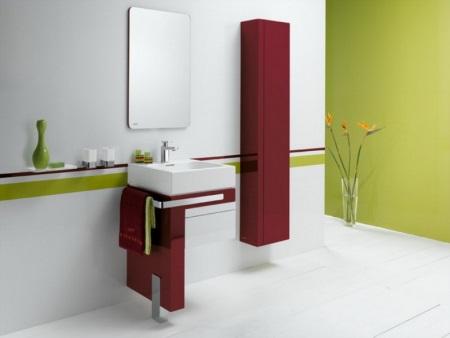 Трехцветная ванная комната