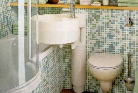 Рациональное размещение сантехники маленькой ванны