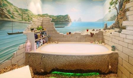 Морская тематика для ванной комнаты
