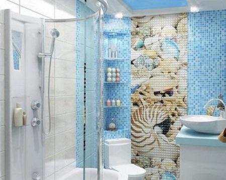 Морской стиль ванной с использованием различной цветовой гаммы