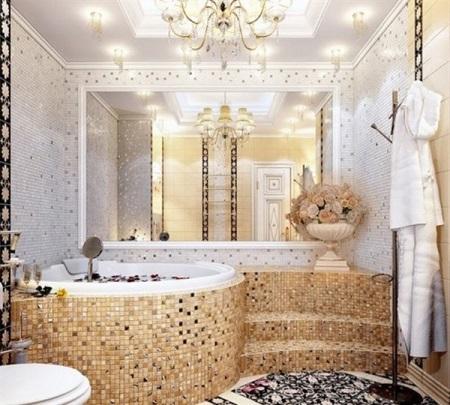 Зеркало в ванной на всю сену
