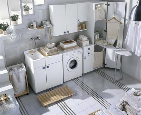 Allerdings Ist Eine Solche Ideale Möglichkeit, Ein Zimmer Mit Einer Großen  Waschmaschine, Trockner, Ort Waschmittel, Platz Für Bügeln, Ist Zu Wenige  Zur ...