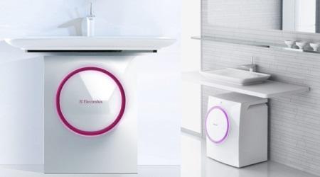 Sie Drain Hinter Der Waschmaschine Befindet, Die Für Den Einsatz Von  Elektrogeräten Wichtig Ist. Mit Einer Solchen Nutzfläche Spart ...