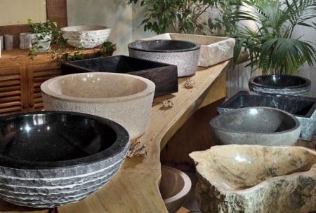 Каменные раковины для ванной