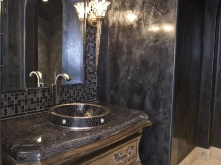 Сантехника в ванной в стиле арт-деко