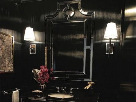 Зеркало в ванной в стиле арт-деко