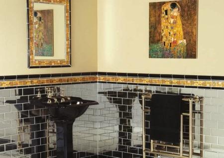 Материалы для отделки ванной в стиле арт-деко