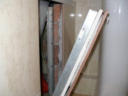 Монтаж скрытого люка под плитку