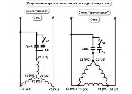 Схема подключения двигателя для модели