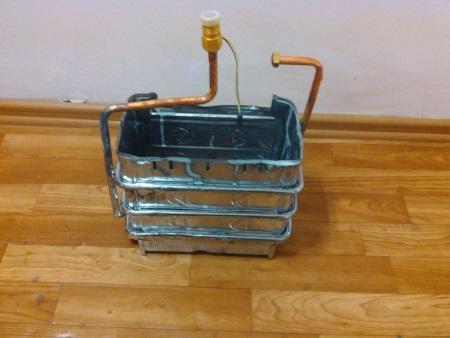 Стальной теплообменник для газовой колонки