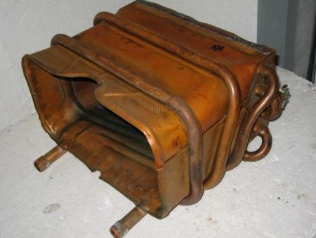 Медный теплообменник для газовой колонки