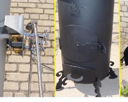 Дровяной водонагреватель для дачи