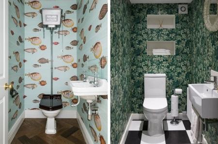 Behang Voor Toilet : Behang op toilet