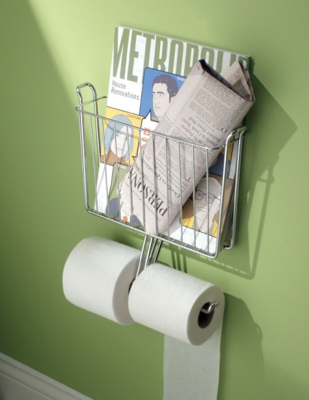 Газетница (24 фото) в туалет: настенные и напольные, как сделать своими руками